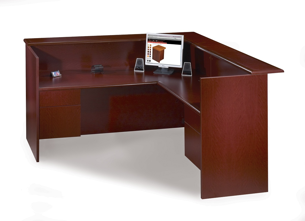Lariat series reception desk office furniture by kb for Reception furniture